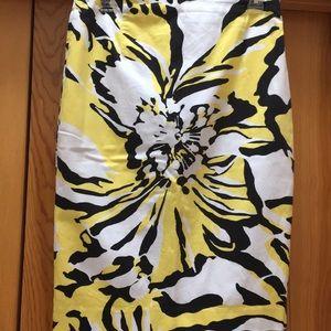 Express Design Studios black yellow & white skirt